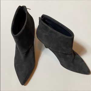 Ivanka Trump charcoal grey suede booties